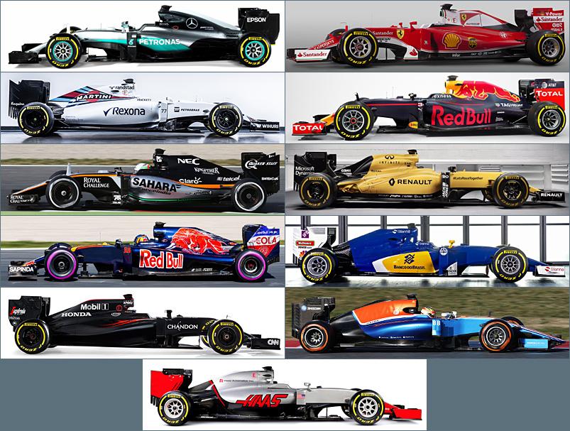 Vormel-1 2016 võistlusautod
