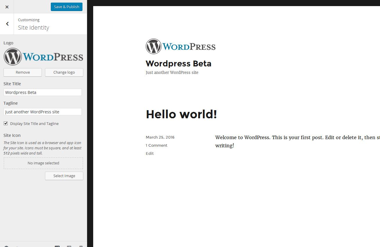 wordpress-4.5-kohandatud-logo