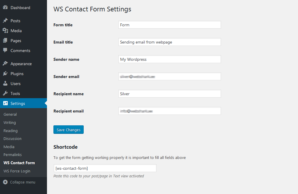 WS Contact Form