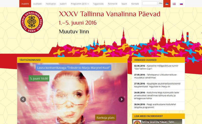 Märgatud veebis – 1. leid – Tallinna Vanalinna Päevad veeb