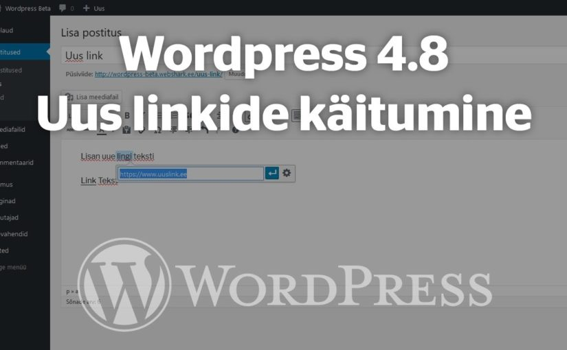 WordPress 4.8 updates