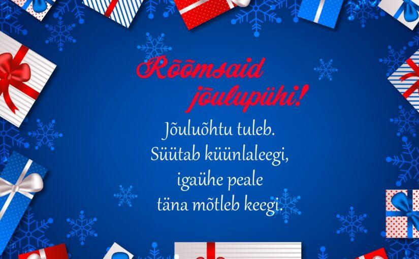 Jõulusalmid ja jõululuuletused lastele